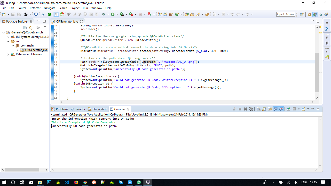 QR Code Generate Using JAVA | Yusata Infotech Blogs