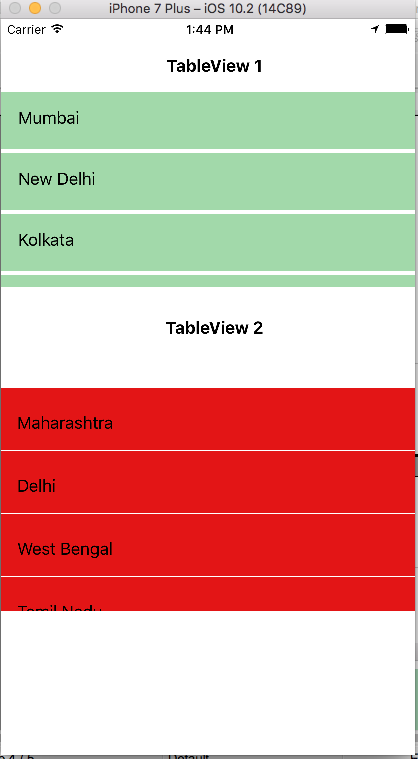 Implementing Multiple TableView On a Single ViewController Using